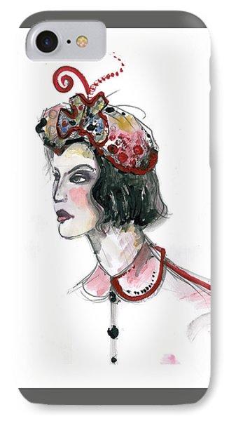 Original Watercolor Fashion Illustration IPhone Case