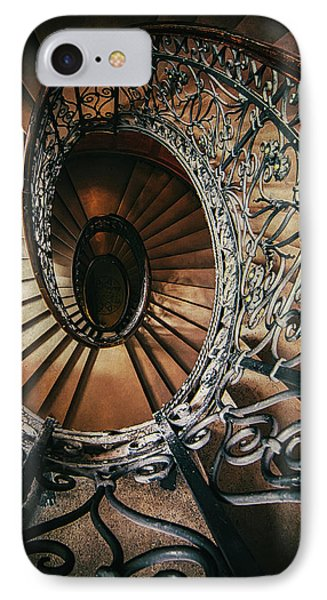 IPhone Case featuring the photograph Ornamented Spiral Staircase by Jaroslaw Blaminsky