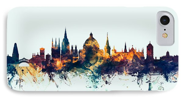 Oxford England Skyline IPhone 7 Case by Michael Tompsett