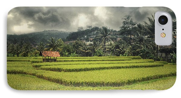 IPhone Case featuring the photograph Paddy Field by Charuhas Images