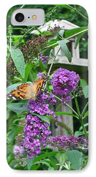 Painted Lady Butterfly Phone Case by Nancy Patterson