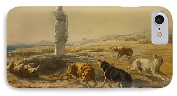 Pallas Athena And The Herdsman's Dogs IPhone Case by Briton Riviere