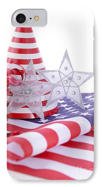 Patriotic Party Decorations For Usa Events IPhone Case by Milleflore Images