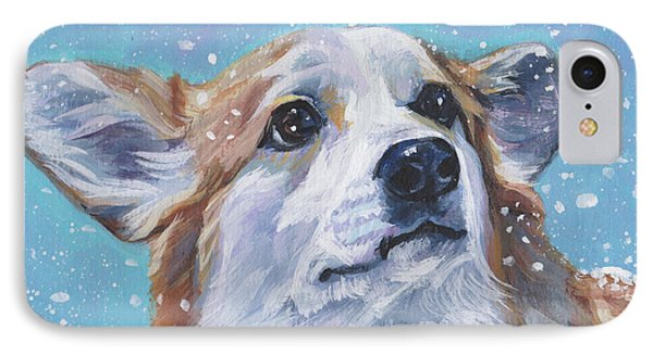 IPhone Case featuring the painting Pembroke Welsh Corgi by Lee Ann Shepard