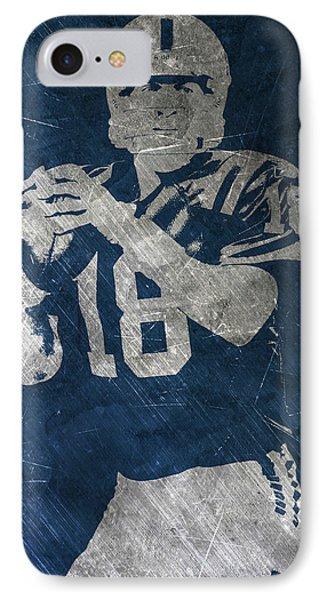 Peyton Manning Colts IPhone 7 Case by Joe Hamilton