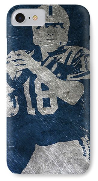 Peyton Manning Colts IPhone Case by Joe Hamilton