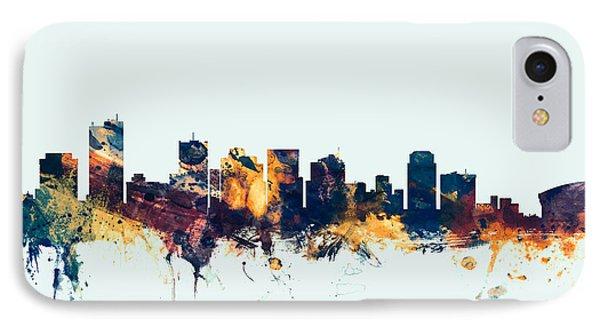 Phoenix Arizona Skyline IPhone 7 Case by Michael Tompsett