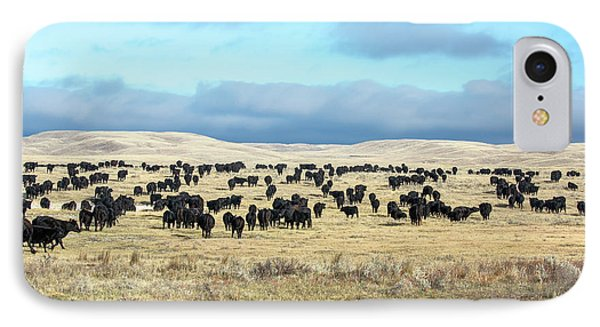 A Herd Gathers IPhone Case by Todd Klassy