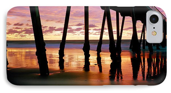 Pier In The Pacific Ocean, Hermosa IPhone Case by Panoramic Images