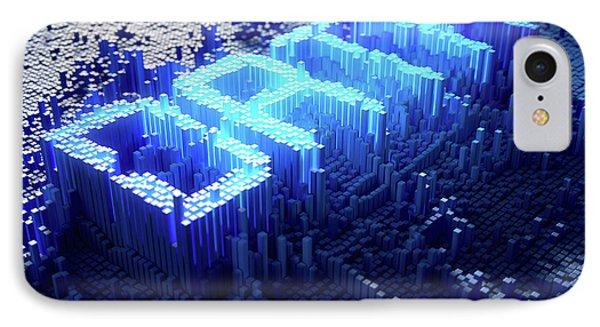 Pixel Data Concept IPhone Case by Allan Swart
