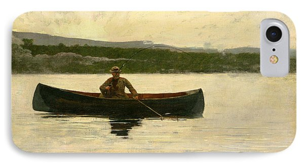 IPhone Case featuring the painting Playing A Fish by Winslow Homer