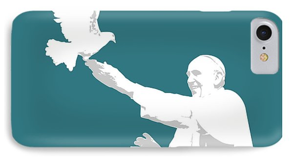 Dove iPhone 7 Case - Pope Francis by Greg Joens