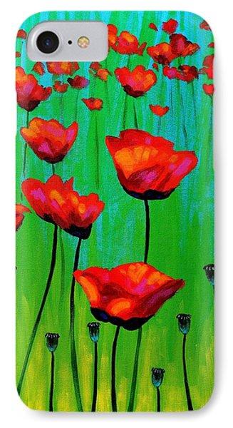 Poppy Dance IPhone Case by John  Nolan