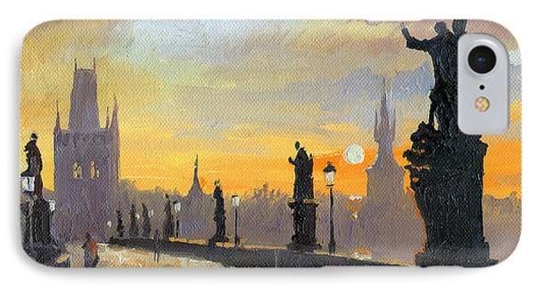 Prague Charles Bridge 01 Phone Case by Yuriy  Shevchuk