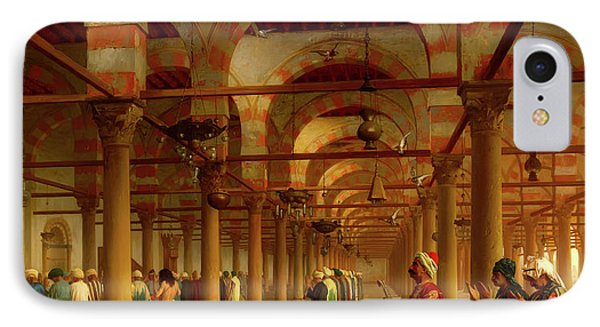 IPhone Case featuring the painting Prayer In The Mosque by Jean-Leon Gerome