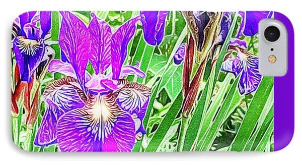 Purple Irises IPhone Case by Anne Sands