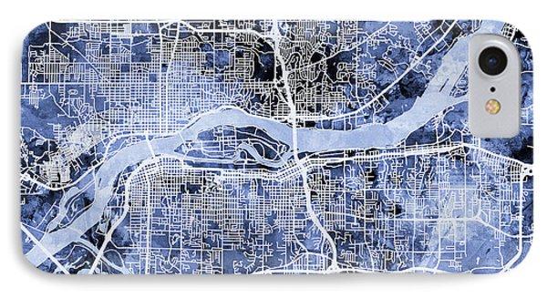 Quad Cities Street Map IPhone Case by Michael Tompsett