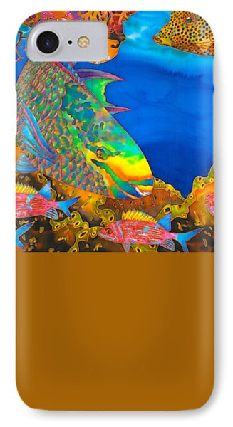 Queen Parrotfish IPhone Case by Daniel Jean-Baptiste