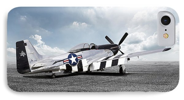 IPhone Case featuring the digital art Quick Silver P-51 by Peter Chilelli