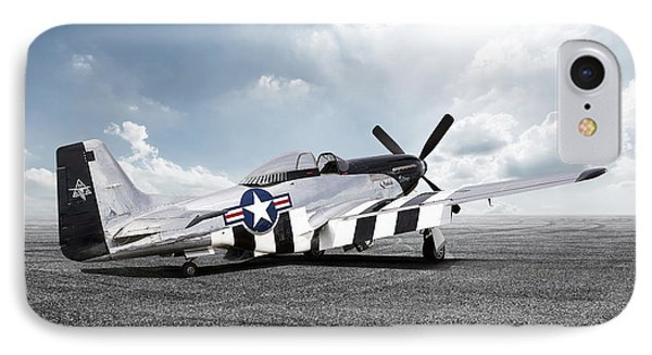 Quick Silver P-51 IPhone Case by Peter Chilelli