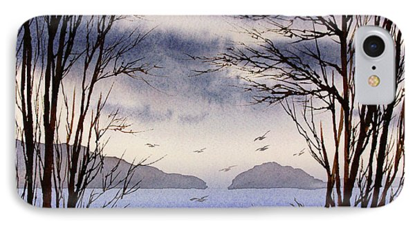 IPhone Case featuring the painting Quiet Shore by James Williamson