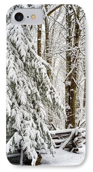 IPhone Case featuring the photograph Rail Fence And Snow by Thomas R Fletcher