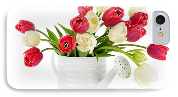 Red And White Tulips Phone Case by Elena Elisseeva