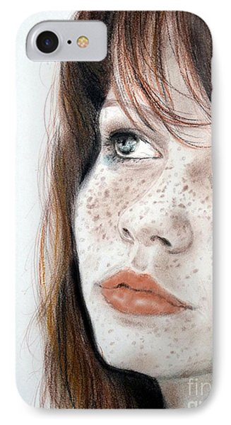 Red Hair And Freckled Beauty IPhone Case by Jim Fitzpatrick