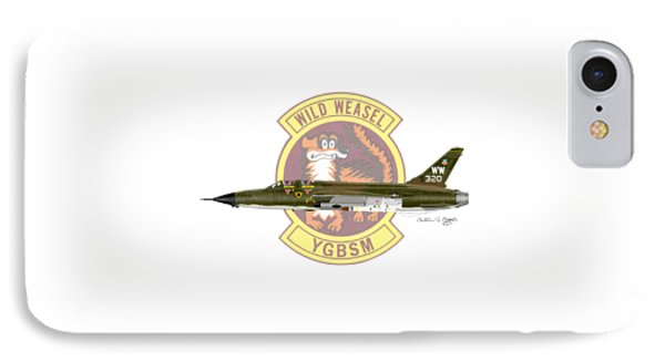 Republic F-105g Thunderchief 561tfs IPhone Case by Arthur Eggers