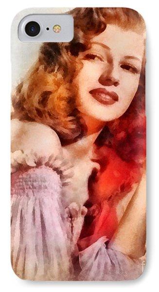 Rita Hayworth, Vintage Hollywood Actress IPhone Case
