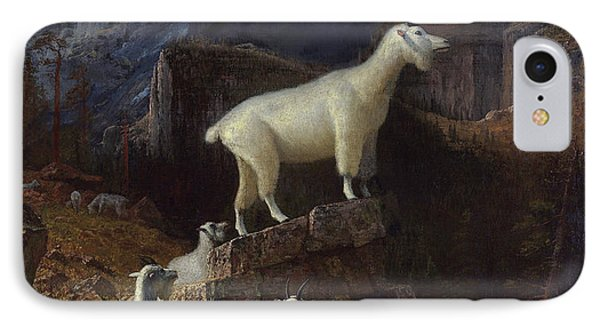 Rocky Mountain Goats IPhone Case by Celestial Images