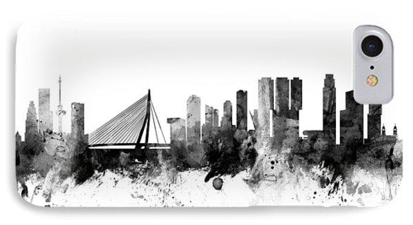 Rotterdam The Netherlands Skyline IPhone Case by Michael Tompsett