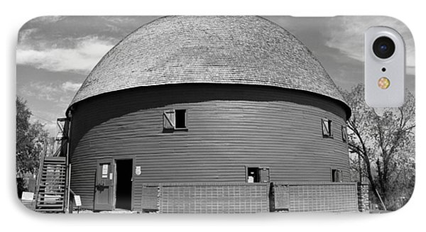 Route 66 - Round Barn IPhone Case by Frank Romeo