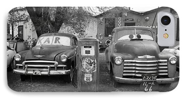 Route 66 - Snow Cap Drive-in Phone Case by Frank Romeo