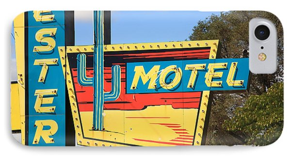 Route 66 - Western Motel IPhone Case