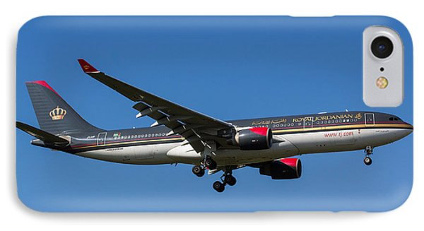 Royal Jordanian Airlines Airbus A330 IPhone Case by David Pyatt