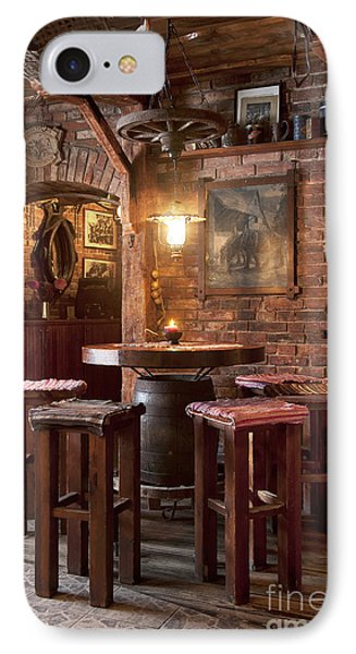 Rustic Restaurant Seating Phone Case by Jaak Nilson