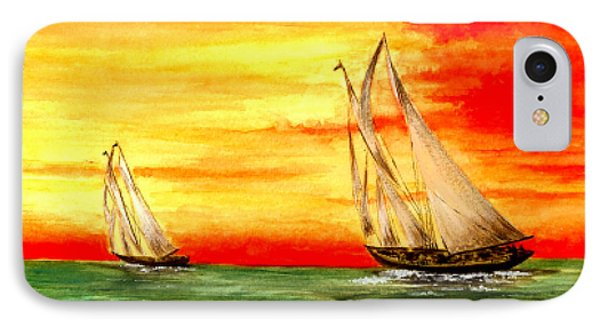 2 Sailboats Phone Case by Michael Vigliotti