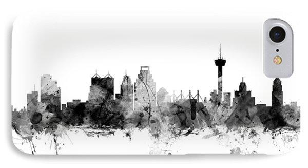 San Antonio Texas Skyline IPhone Case by Michael Tompsett