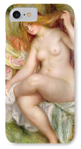 Seated Bather IPhone Case by Pierre Auguste Renoir