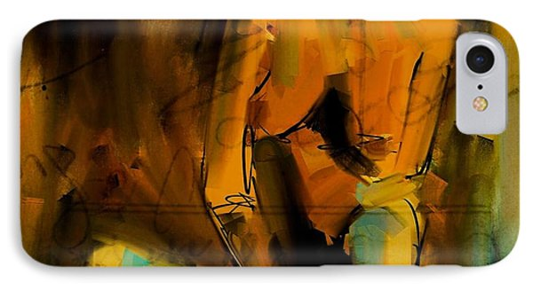IPhone Case featuring the digital art Seated Nude by Jim Vance