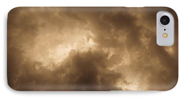 Sepia Clouds IPhone Case