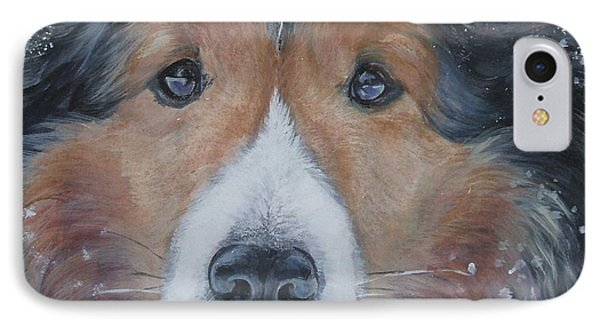 Shetland Sheepdog Phone Case by Lee Ann Shepard