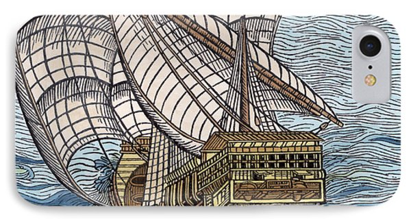 Ship From The Time Of Christopher Columbus IPhone Case