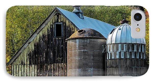 2 Silos And A Barn IPhone Case by Paul Freidlund