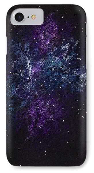 Sketch Of Abstract Design Night Sky IPhone Case by IPolyPhoto Art