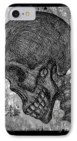 Gothic Skull IPhone Case by Akiko Okabe