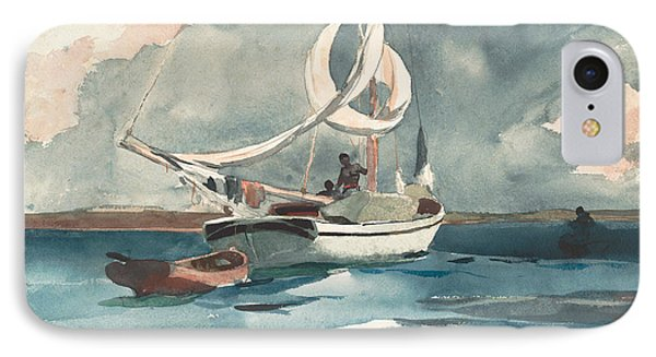 Sloop, Nassau IPhone Case by Winslow Homer