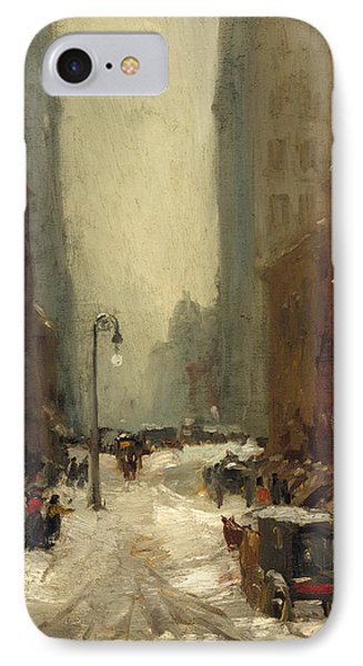 Snow In New York IPhone Case by Robert Henri