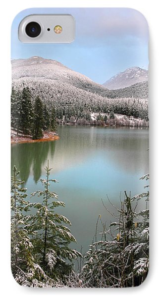 Snowy Green Lake Sunset Whistler B.c Canada Phone Case by Pierre Leclerc Photography